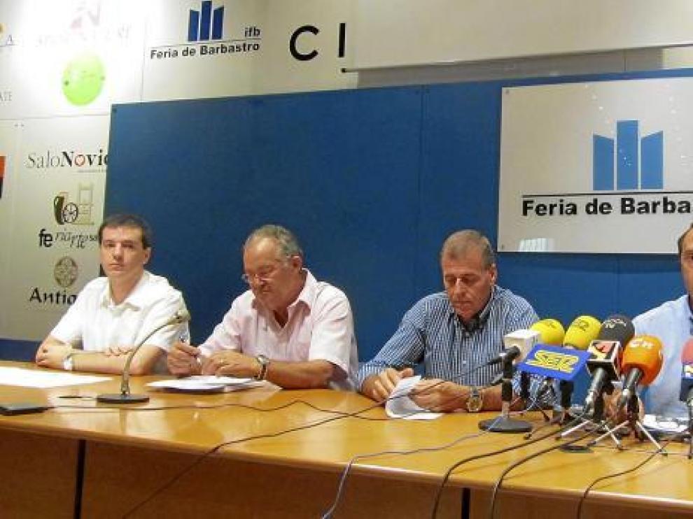 Fernando Salinas, Rosendo Guiral, Antonio Cosculluela y Jesús Lobera, en la presentación de Ferma.