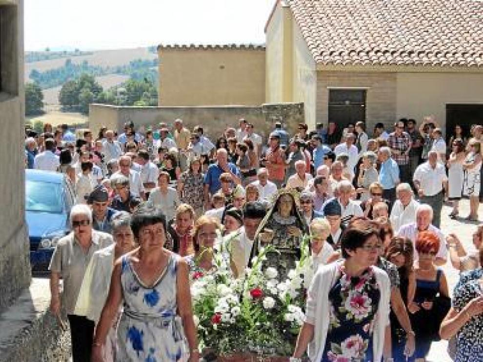 Los vecinos sacaron en procesión a Santa María Magdalena.