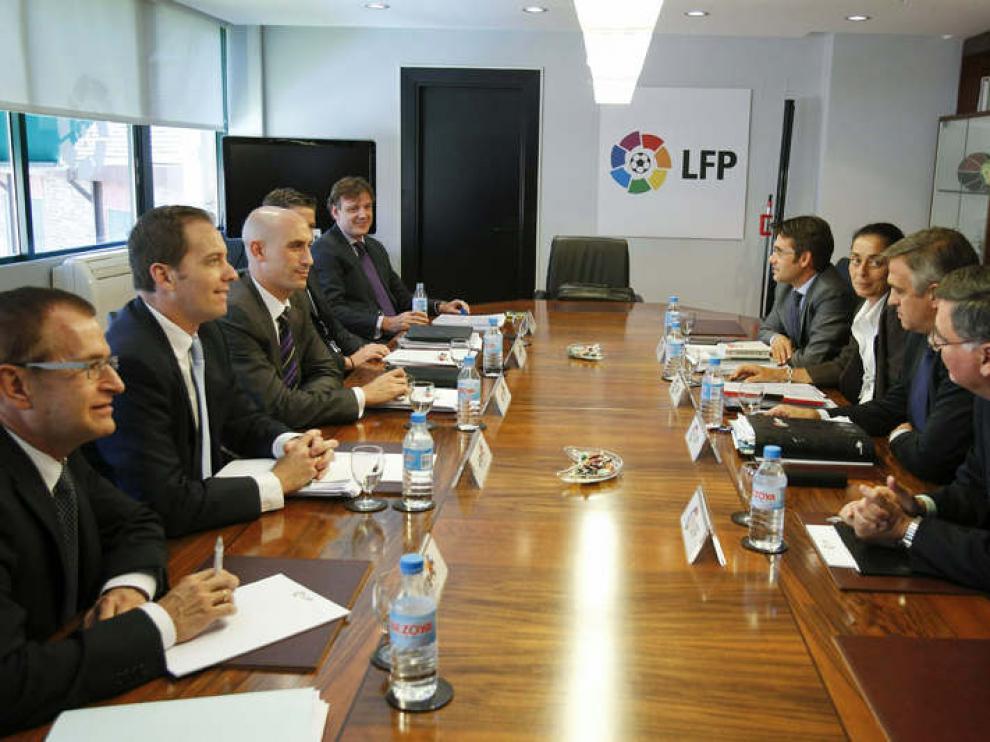 Reunión de la Liga de Fútbol Profesional (LFP) y la Asociación de Futbolistas Españoles (AFE)