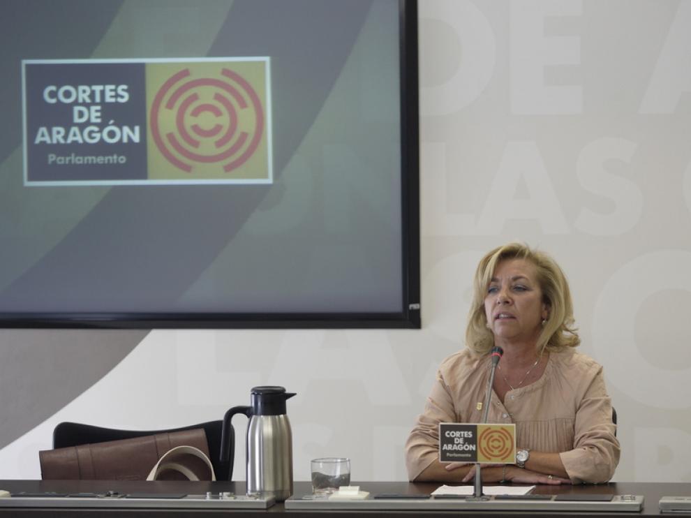 Dolores Serrat momentos antes de comparecer en las Cortes este miércoles