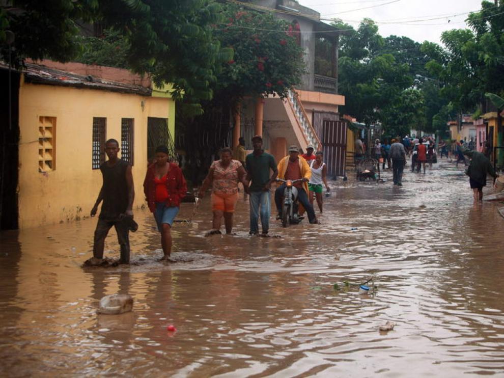 Las lluvias también han causado importantes daños materiales en los núcleos de población urbanos y rurales.