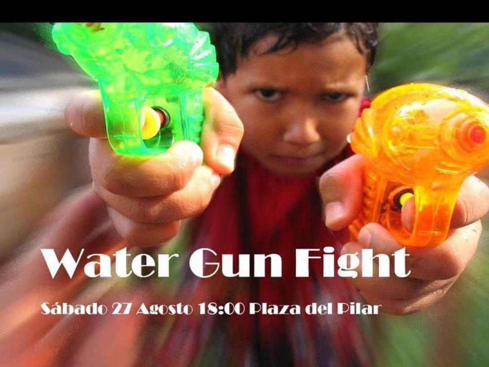 cartel del Water Gun Fight Zgz