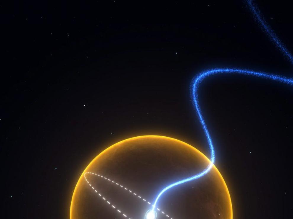 Fotografía sin fechar cedida por la Comunidad Científica Australiana y la Organización de Investigación Industrial (CSIRO) en la que se observa una impresión artística de un planeta de diamante