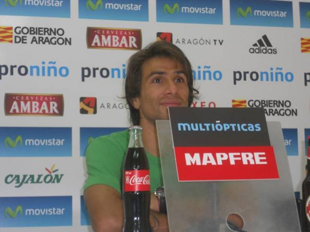 El capitán del Real Zaragoza, Leonardo Ponzio.