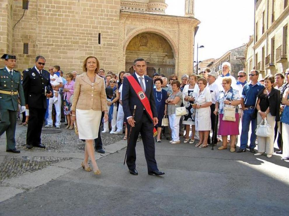 Luisa Fernanda Rudi y Luis María Beamonte en una imagen de archivo