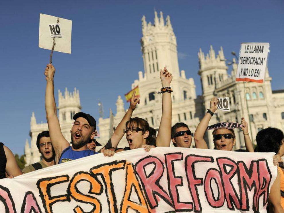 Protesta del 15-M en Madrid