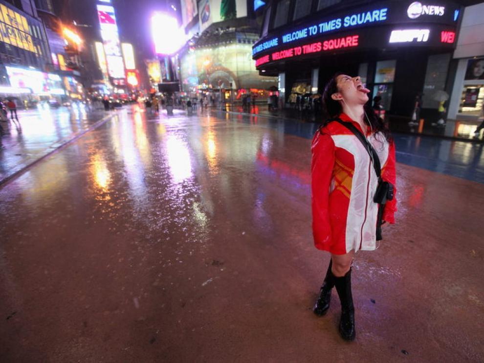 Times Square se queda vacía por la alerta.