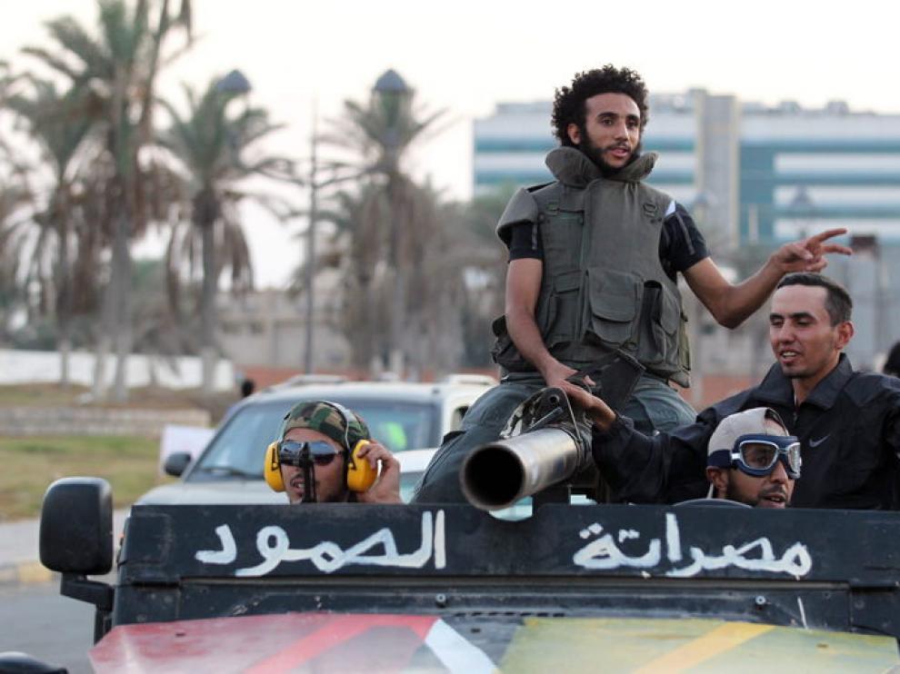 Rebeldes libios de Misrata