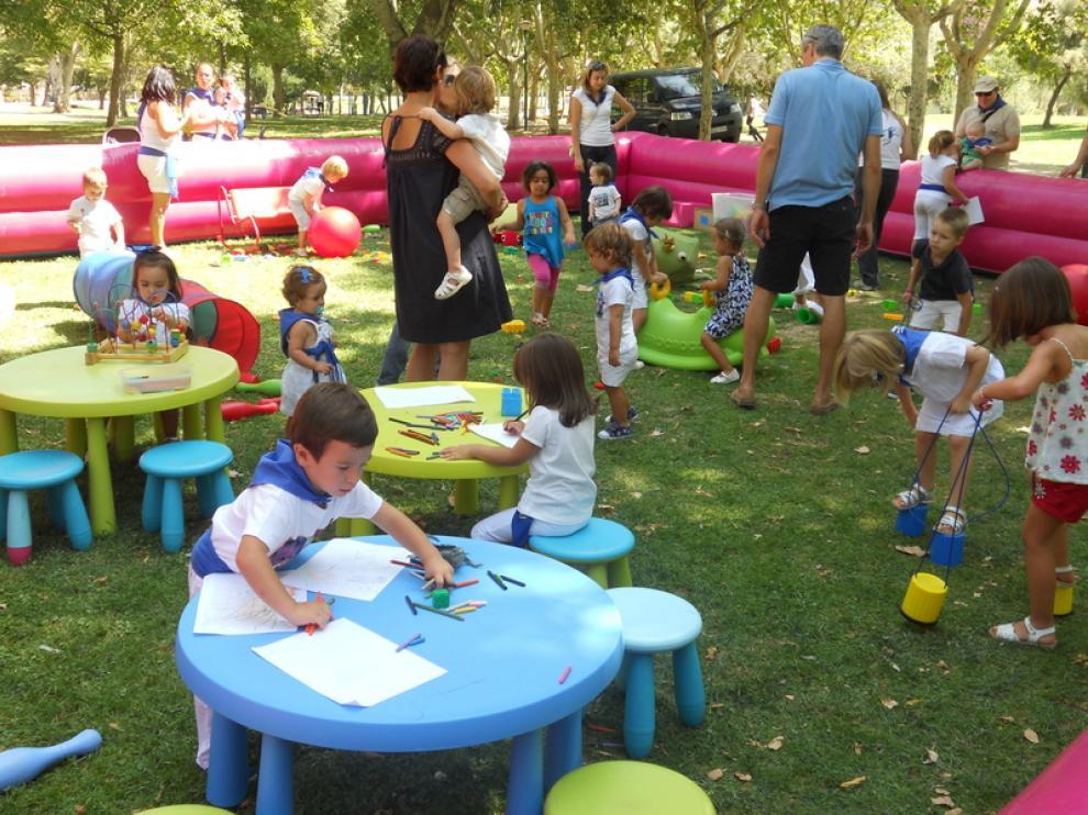 El 'parque de la Alegría' se convirtió en el nuevo punto de encuentro para los más pequeños.