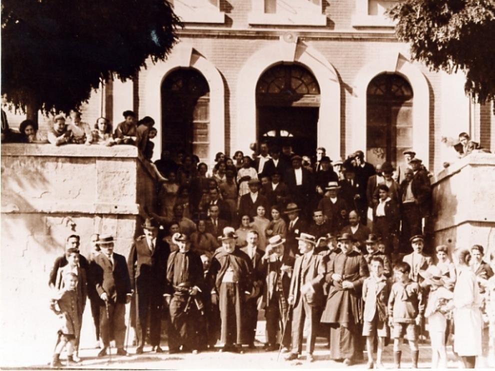 Imagen tomada de la estación de Monzón sin fechar.