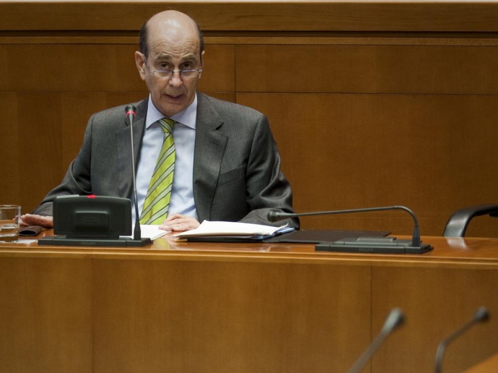 Rafael Fernández de Alarcón en una comparecencia anterior en las Cortes
