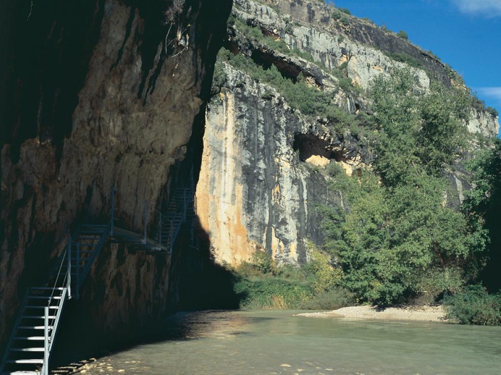 El río Vero tiene un acceso complicado.