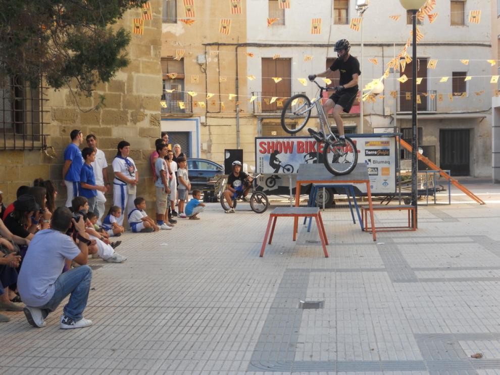 La exhibición y curso práctico de 'bike trial' dejó a todos los asistentes con la boca abierta.