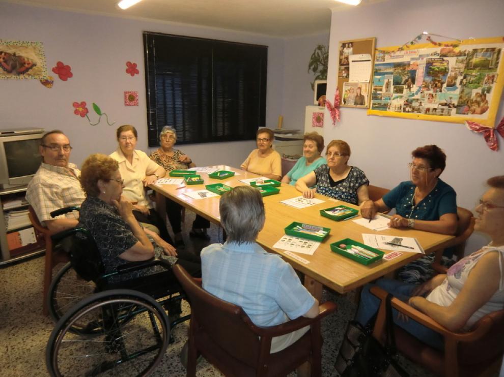 Integrantes de la Asociación de Enfermos de Alzhéimer.