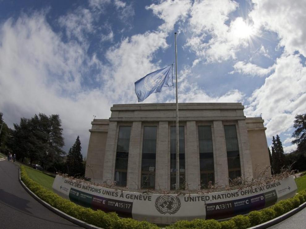 La sede de la ONU en Ginebra en una imagen realizada con una lente especial.