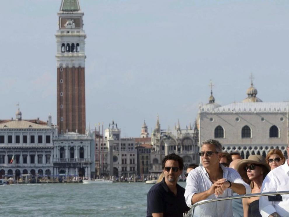 George Clooney llega a la ciudad de los canales