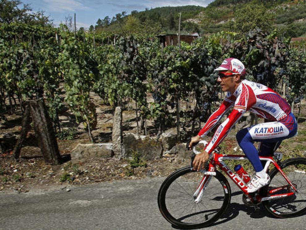 El español, Purito Rodríguez, se entrena en la jornada de este martes