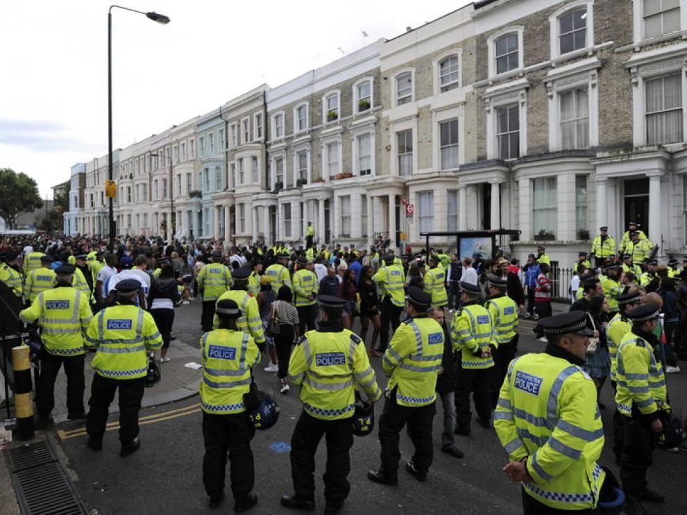 La policía fue la protagonista del acto al efectuar más de 80 detenciones.