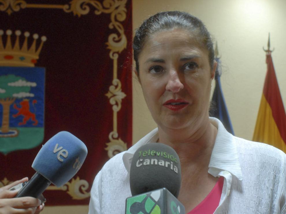 La Presidenta del Cabildo de El Hierro, Belén Allende