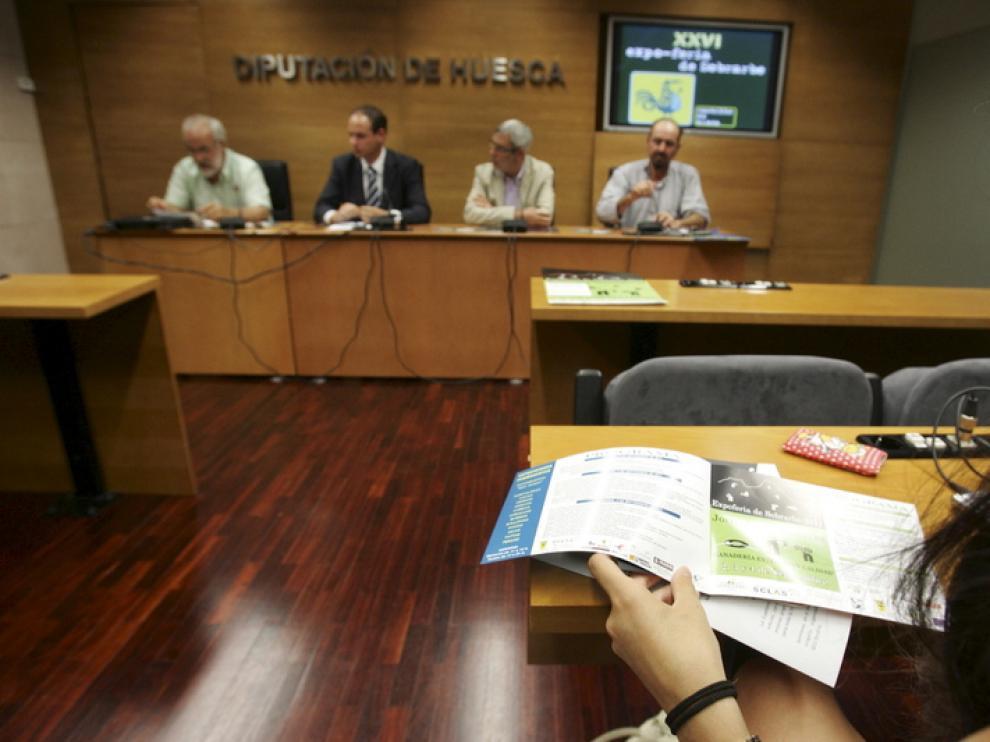 La presentación de la Expoferia tuvo lugar ayer con la presencia de los organizadores del acto.
