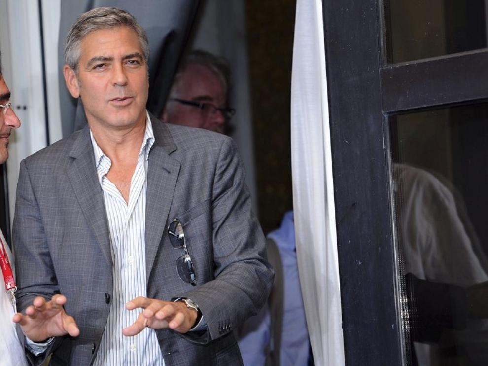 George Clooney, esta mañana en Venecia