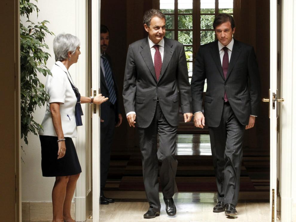 El presidente del Gobierno junto al primer ministro portugués, Pedro Passos Coelho