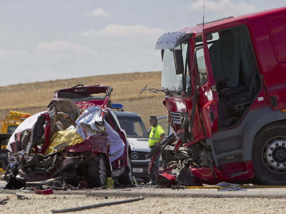 Accidente de tráfico en Marchena, Sevilla.