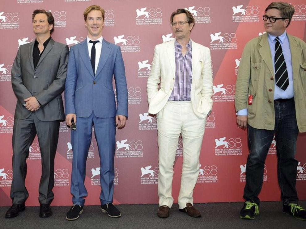 Alfredsson, con Oldman, Firth y Cumberbatch