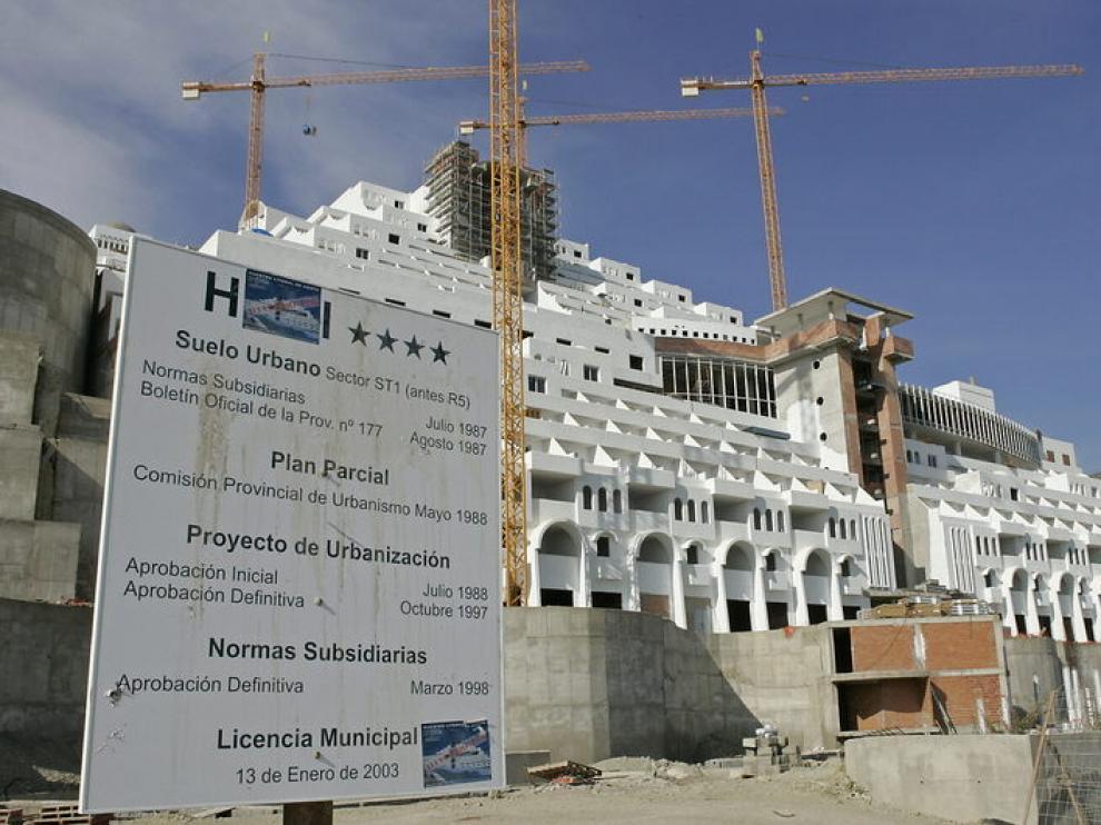 Imagen del Hotel Algarrobico, en el Cabo de Gata