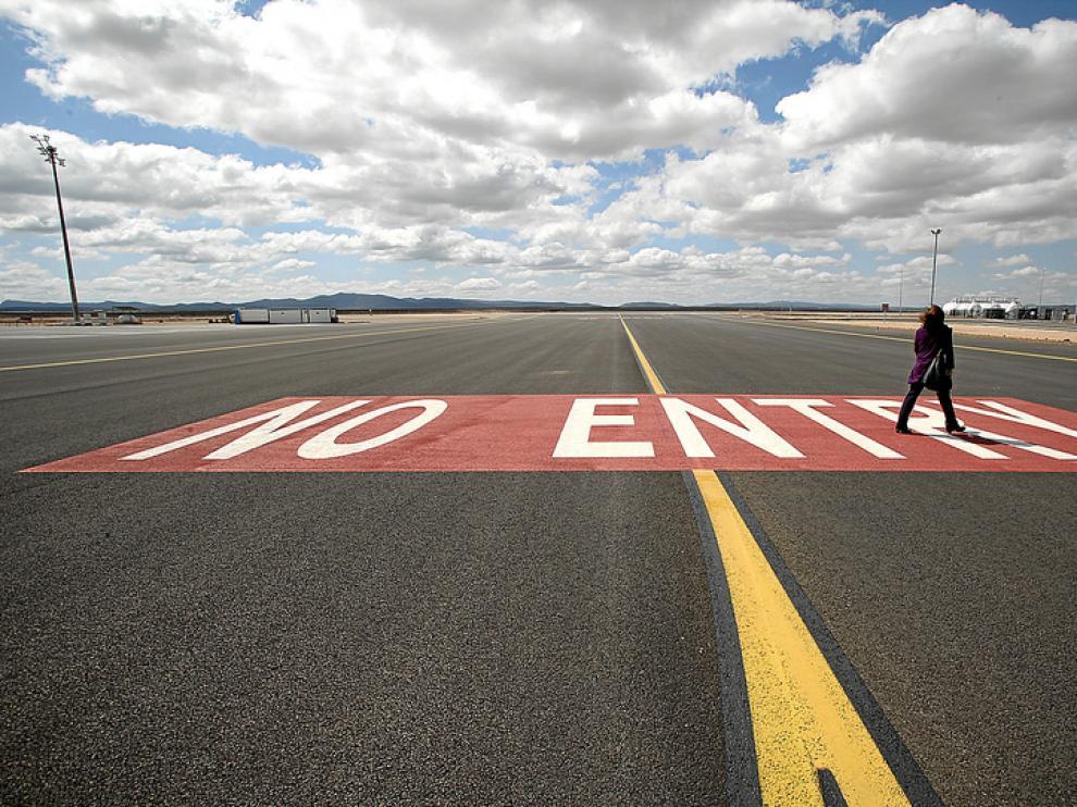 Pista de aterrizaje del aeropuerto de Caudé.
