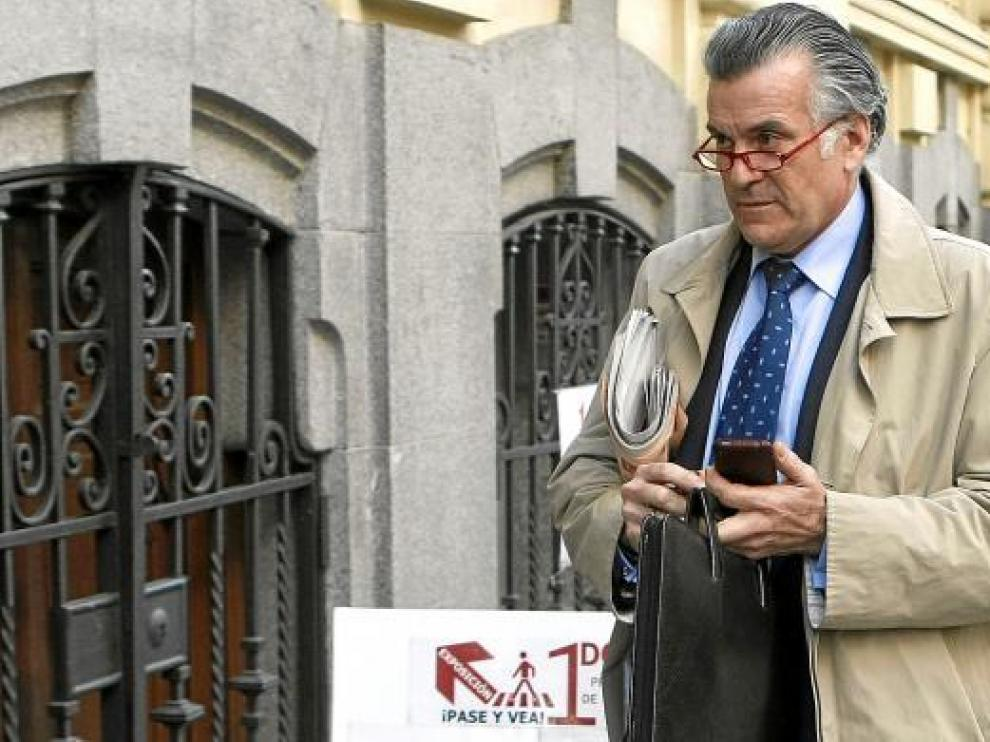 Bárcenas, en abril del año pasado cuando renunció a su escaño en el Senado por el caso Gürtel.