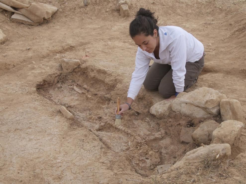 Uno de los enterramientos descubiertos en Segeda en Mara