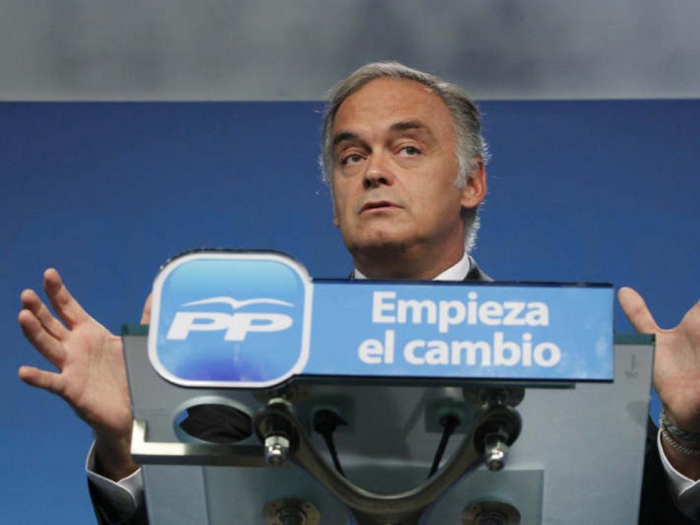 El vicesecretario de Comunicación del PP, Esteban González Pons, este miércoles