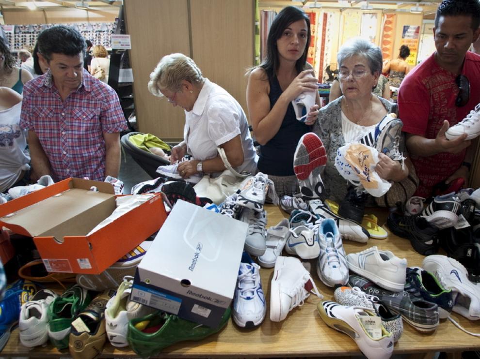 El calzado está entre los productos más demandados.