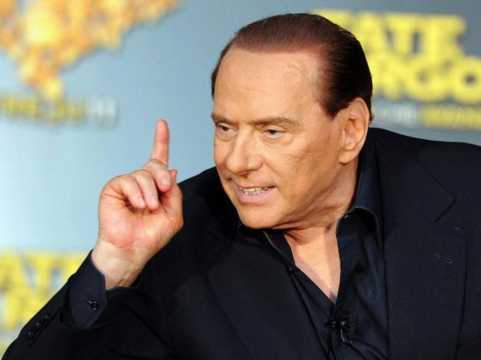 Silvio Berlusconi en un encuentro con jóvenes italianos este viernes