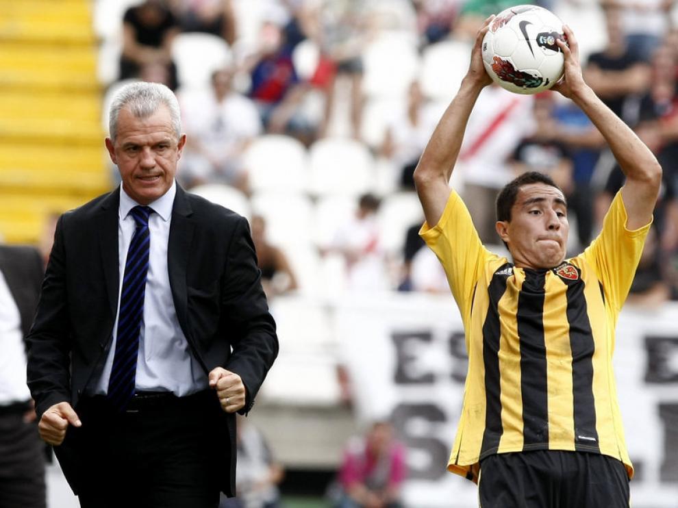 Javier Aguirre durante el partido ante el Rayo