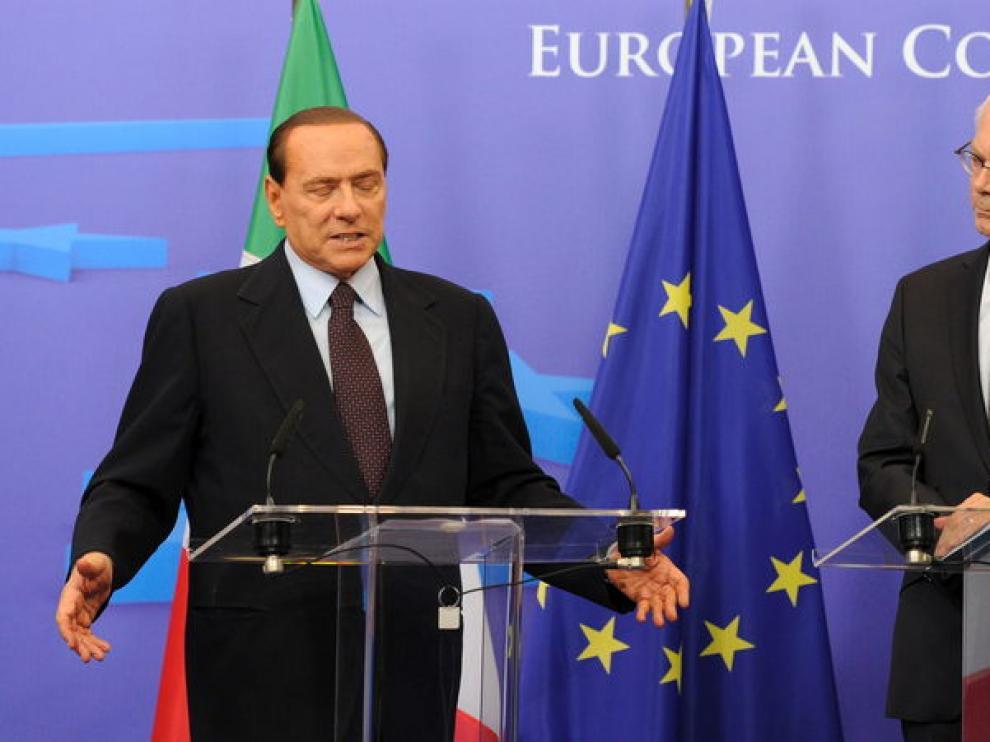 Berlusconi y Van Rompuy, en una imagen de archivo