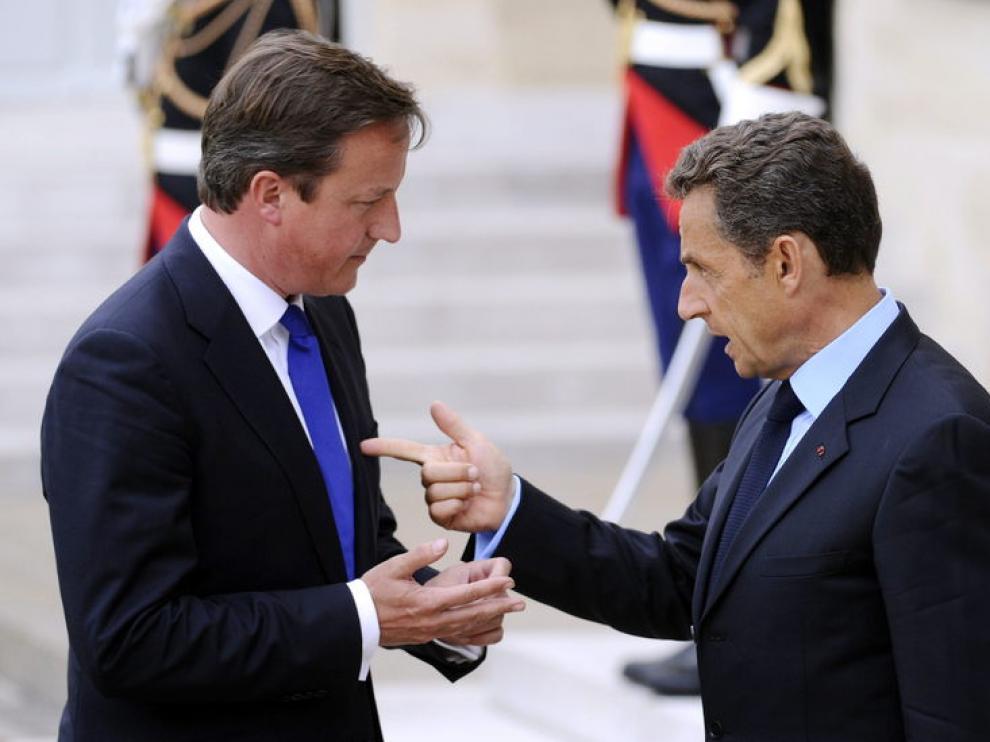 Sarkozy y Cameron, en una imagen de archivo