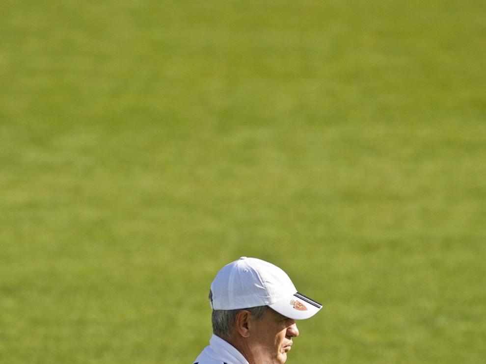 Aguirre durante un entrenamiento.