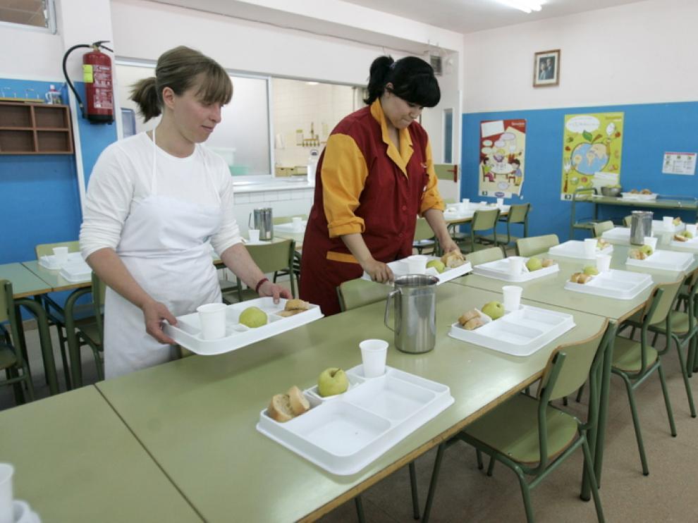 Un comedor escolar en Garrapinillos
