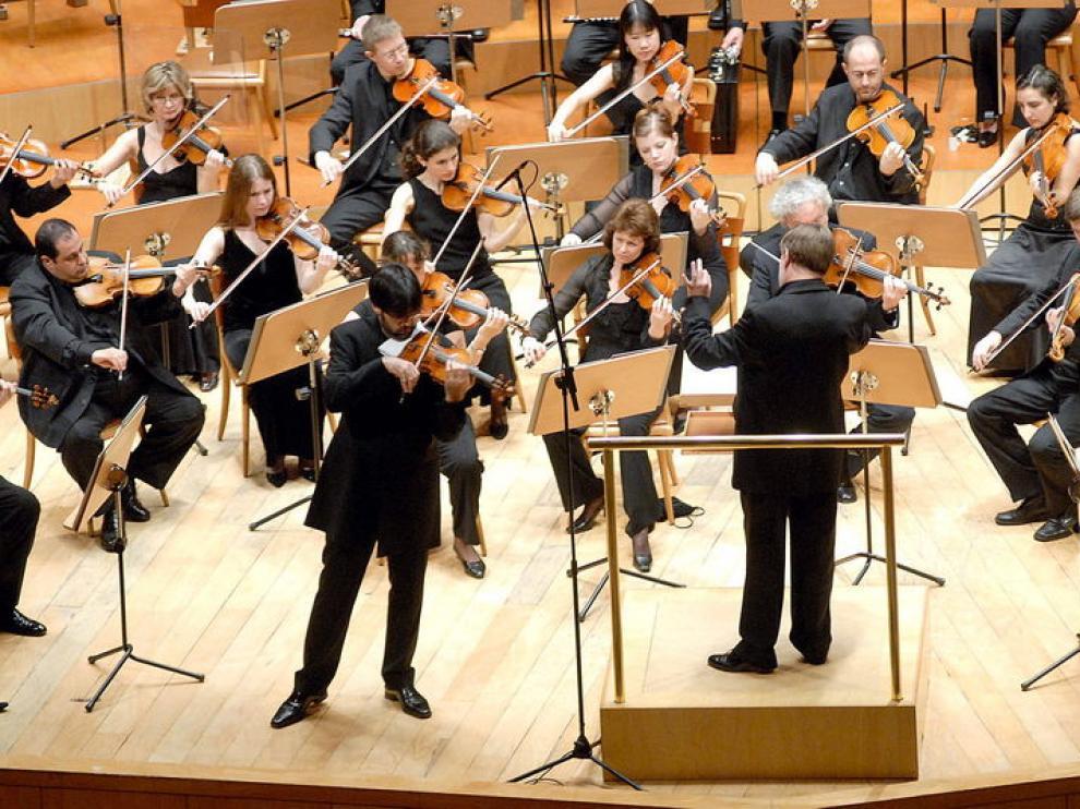 Orquesta sinfónica de la BBC, en el auditorio de Zaragoza
