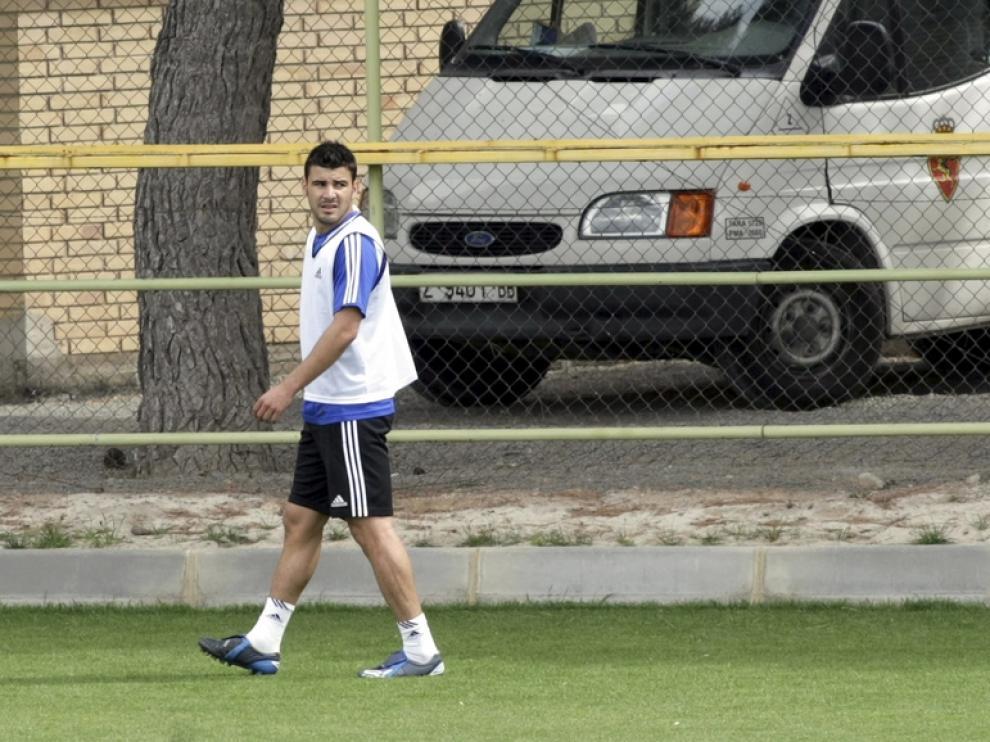 Braulio, durante un entrenamiento