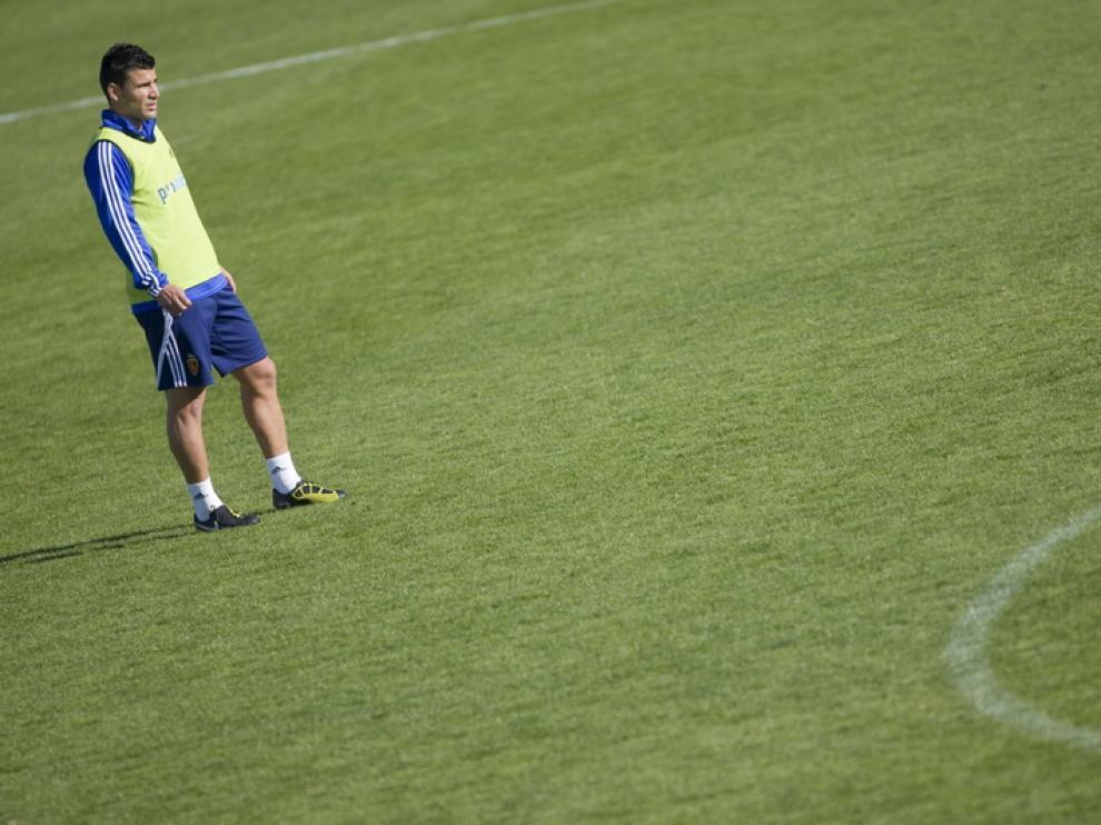 Braulio, en un entrenamiento.