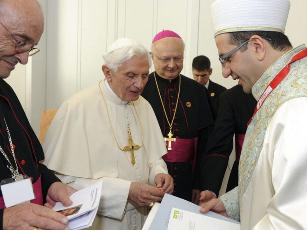 Benedicto XVI, en su visita a Berlín