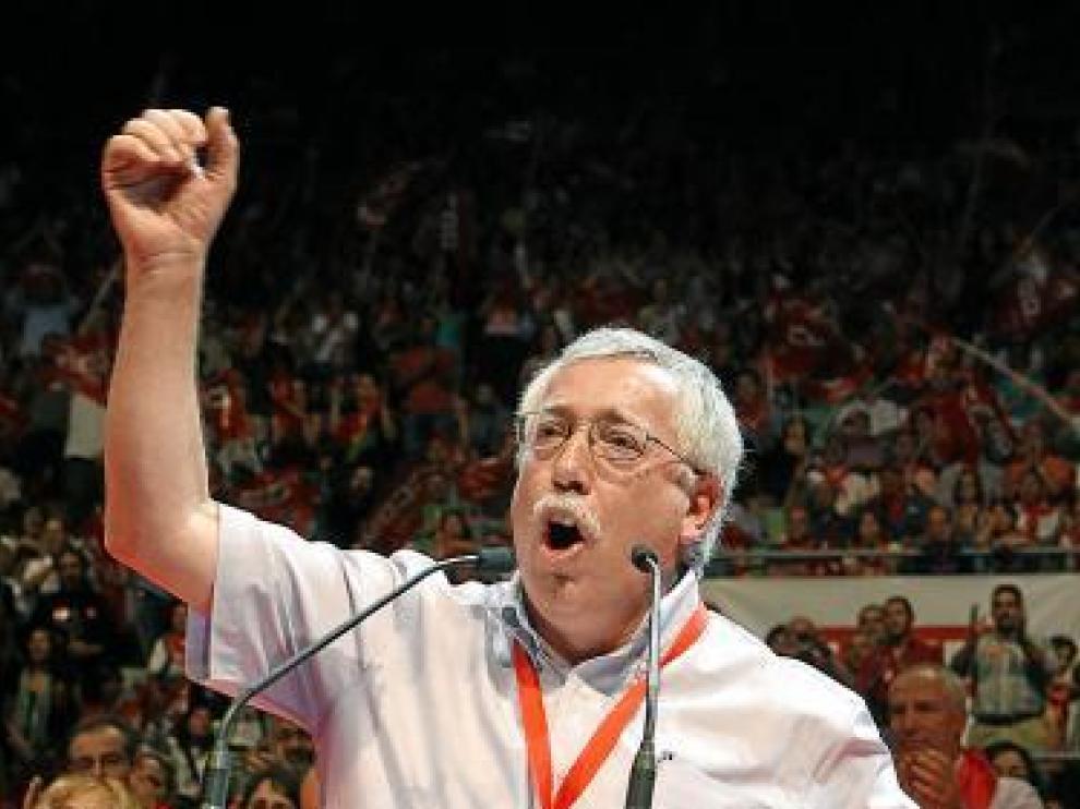 El secretario general de CC. OO., ayer en Madrid.