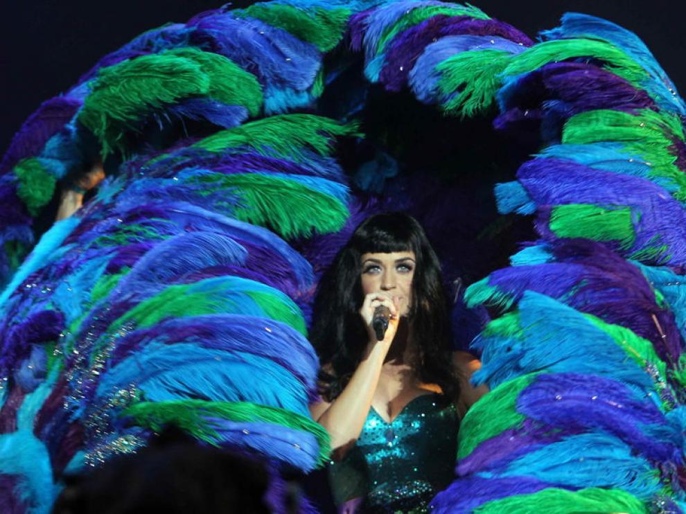 La cantante estadounidense Katy Perry durante una actuación.