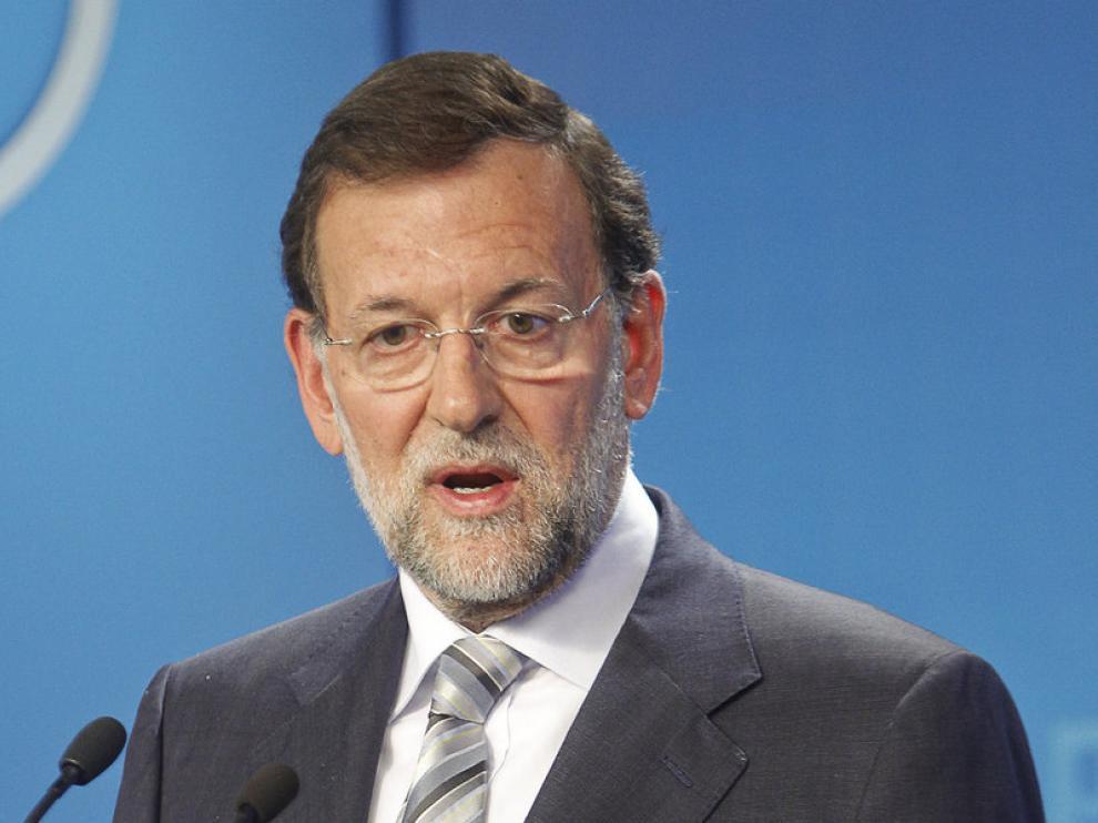 Mariano Rajoy durante la comparecencia