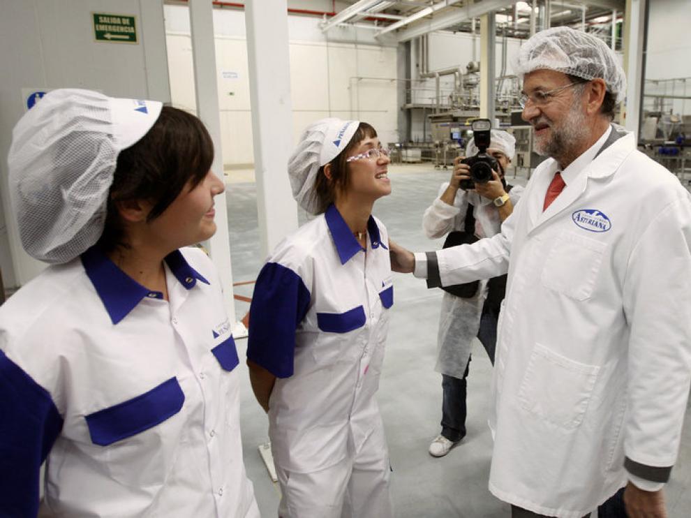 Rajoy durante la visita