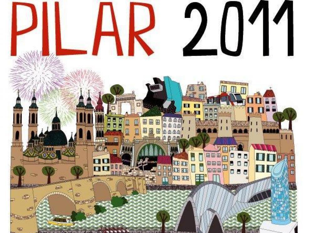 Cartel de las Fiestas del Pilar 2011