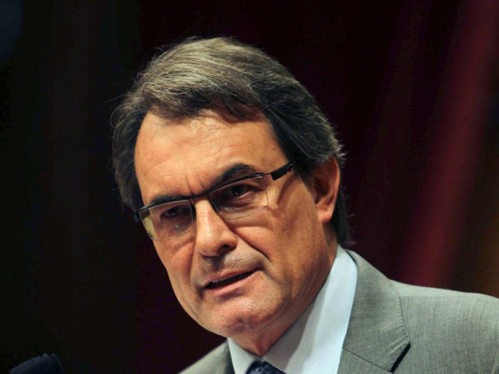 El presidente de la Generalitat, Artur Mas, durante la segunda sesión del debate de política general